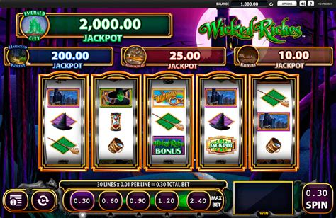 Play The Wizard of Oz: Wicked Riches FREE Slot   WMS