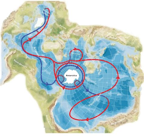 Spilhaus projection centered in Antartica - Vivid Maps