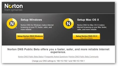 Norton DNS - Make Internet Faster, Safer And More Reliable