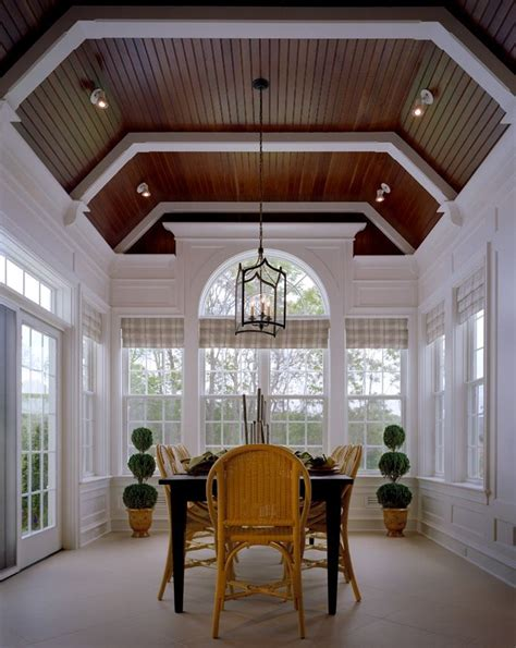 Morning Room with Custom Beams and Beadboard (With images