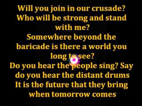 Les Miserables Epilogue (Do you hear the people sing
