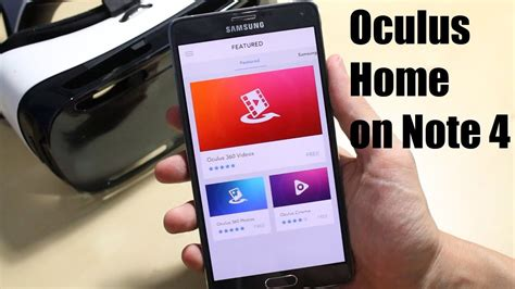 Oculus Home App on the Note 4 for Gear VR - YouTube