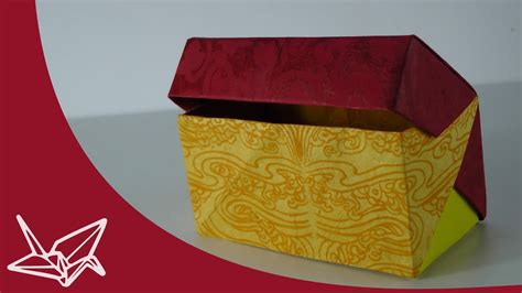 Box with Lid Origami instructions - YouTube