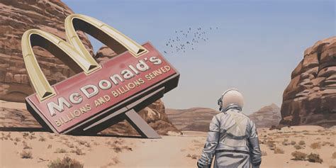 Exploring the present into a dystopian future: paintings